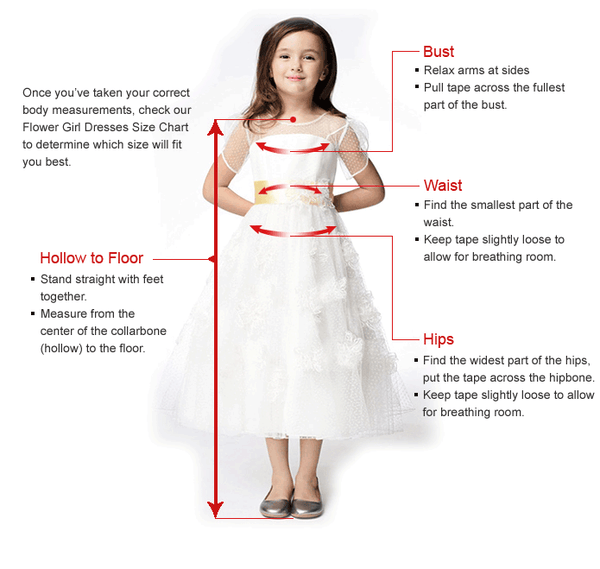 Open Back Lace Appliques Straps Train Long Flower Girl Dresses Ivory Kids Gowns LD1621