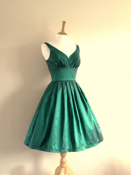 Satin Short Strapless Summer Prom Dress #H103