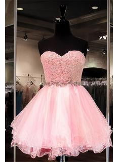 Blush Pink Lace Blush Pink Sweet 16 Dress #H093