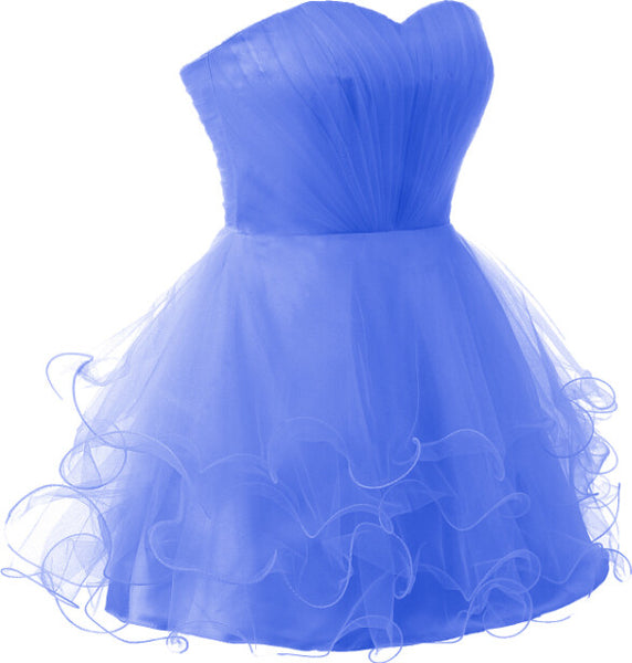 Short Sweet 16  Elegent Blue Homecoming Dresses #H022