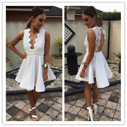 Lace Fashion Cheap Homecoming Dresses #H062