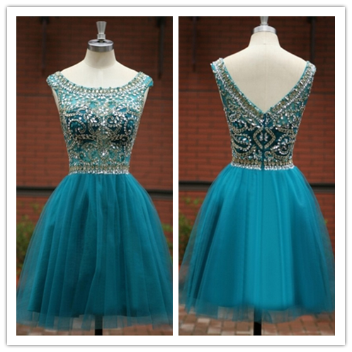 Blue Tulle Homecoming Gowns for 2016 #H105