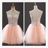 Blush Pink Tulle Homecoming #H046