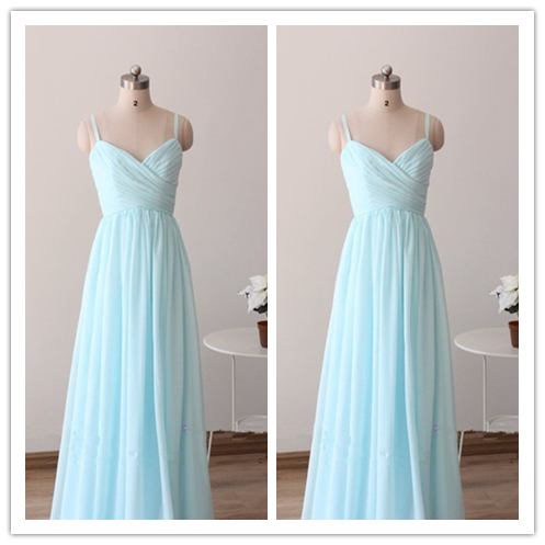 Simple Floor-Length Custom Made Bridesmaid Dresses #B17