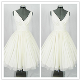 Ivory Chiffon Fitted Homecoming Dress Prom Dresses,Cheap Ball Gown Wedding Dresses #H002