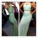 Lace Mermaid Real Made Great Prom Dresses #L38