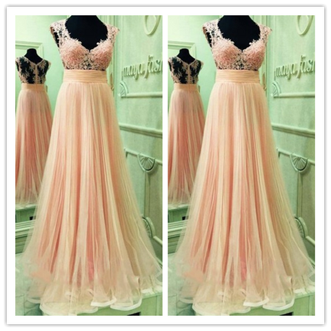 A-Line Charming Sexy Real Made Unique Prom Dresses #L04