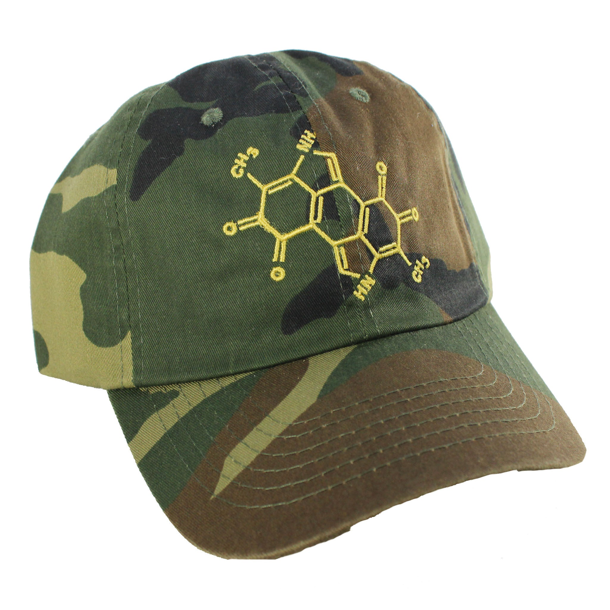 Melanin Is Dope™ Chemical Structure (Dad Hat) - Camo - Conduit Brand