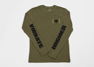 Vibrate Higher (Long Sleeve) - Military Green - Conduit Brand