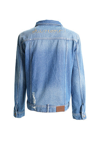 Agnes Embroidered Denim Jacket