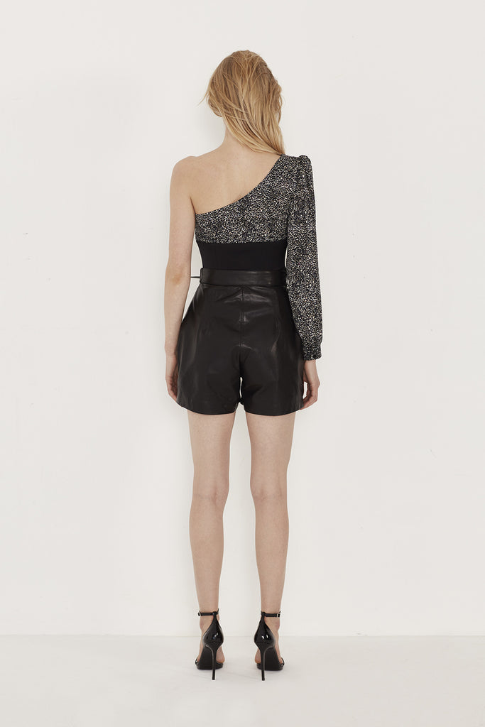 Jane High Waist Leather Shorts