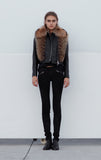 Rosie Fur Leather Jacket