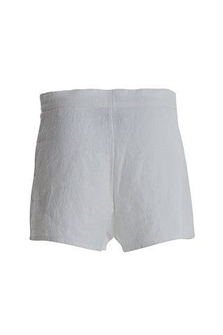 Lace Up Detail Linen Shorts