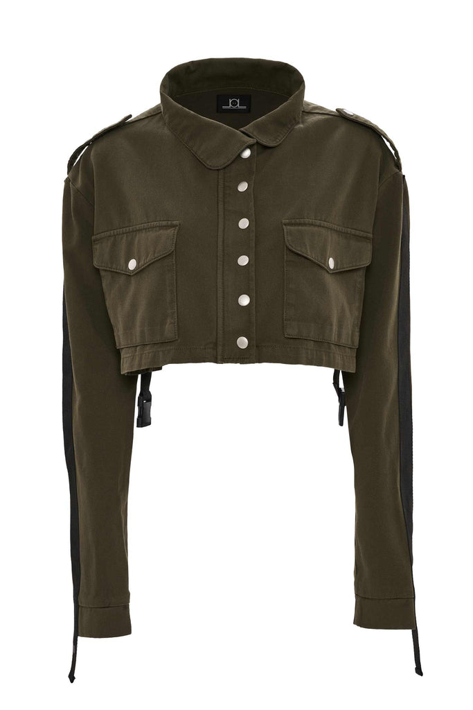 Leila Crop Military Jacket