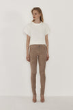 Sophia Stretch Suede Skinny Leather Pants