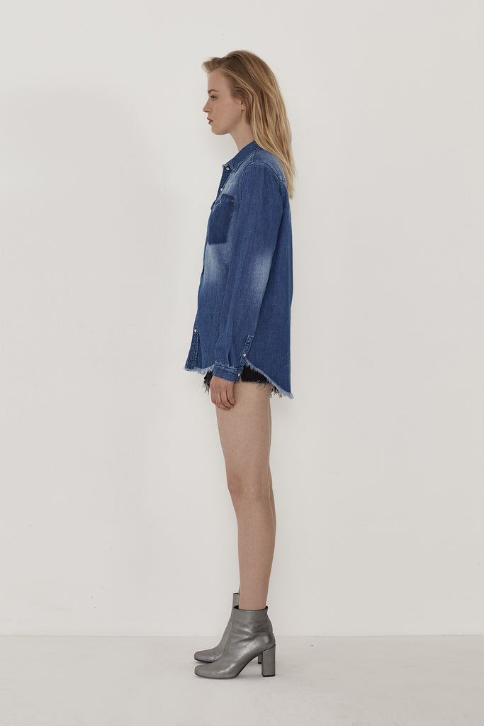 Lorie Embellished Denim Shirt