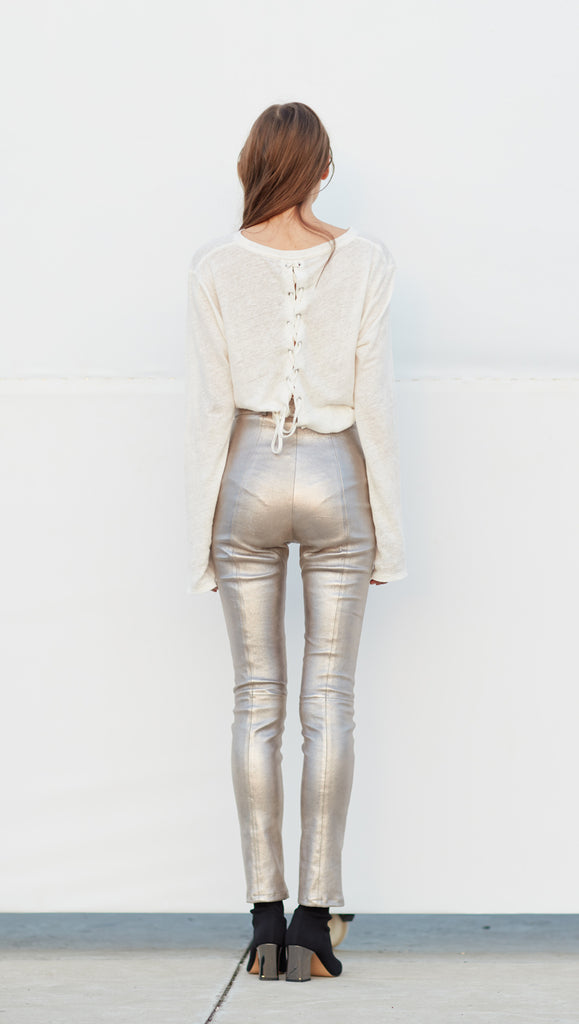 Alberta Leather Pants