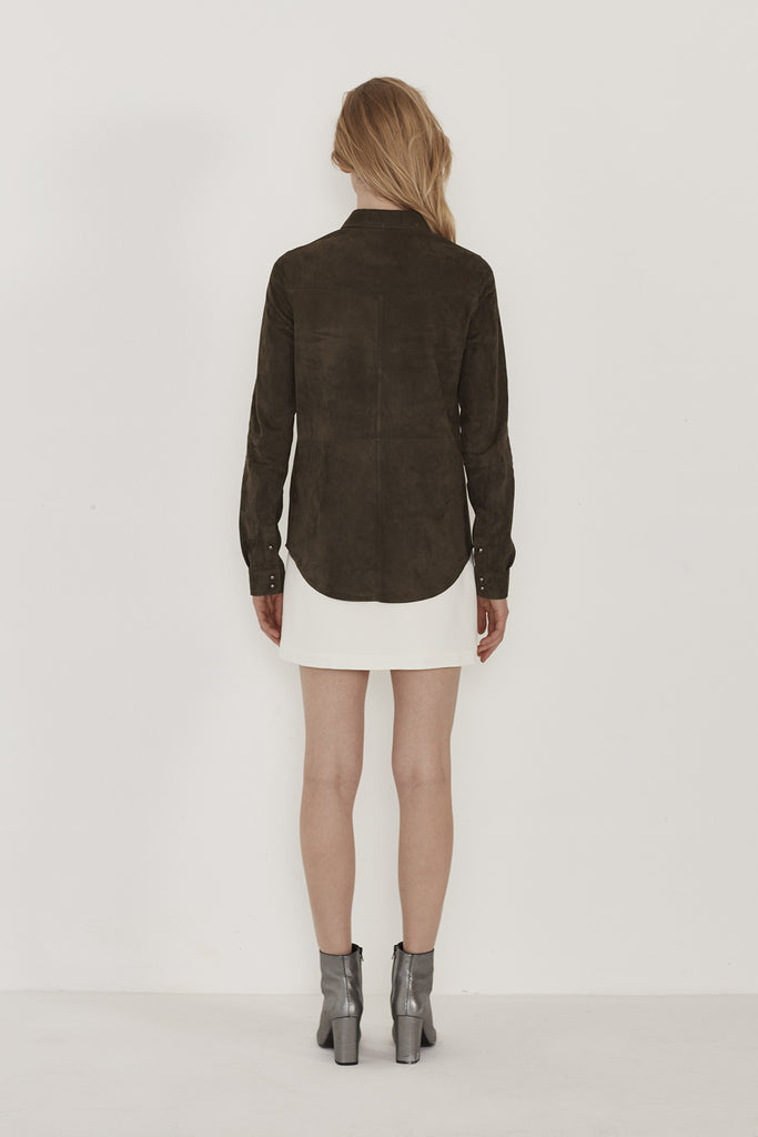 Bridge Suede Leather Shirt