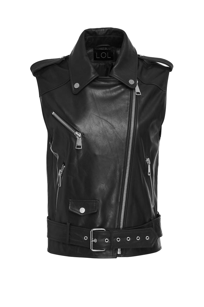 Abee Leather Vest
