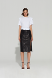 Claudia Leather Skirt
