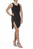 Julia Assymetric viscose-jersey dress