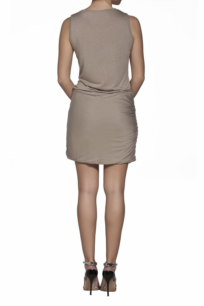 Vanessa drapped viscose-jersey dress