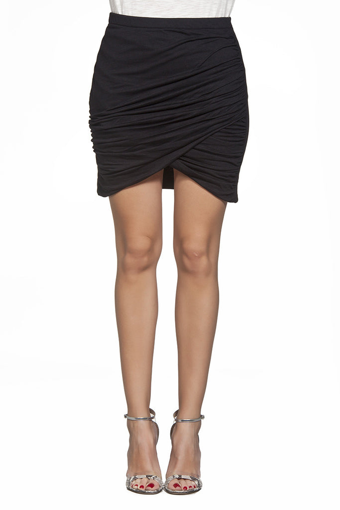 Lena deep drapped skirt