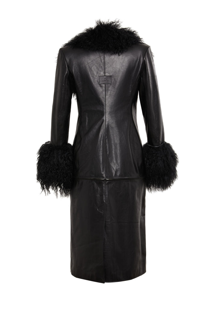 Cecille Leather Trench Coat