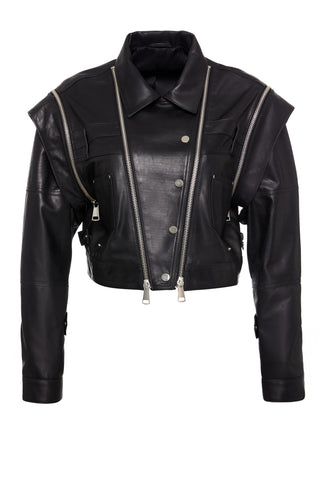 Tyra Leather Top