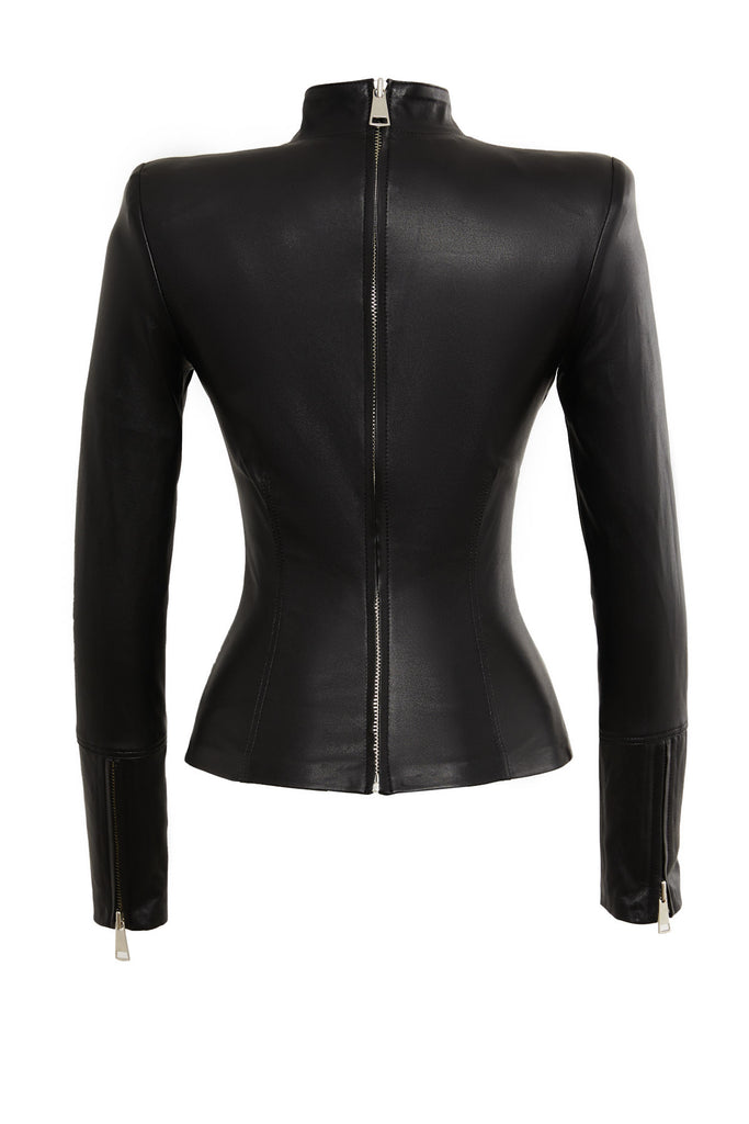 Adrienne Leather Top