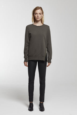 Adeline cut out/zip detailed sweatshirt