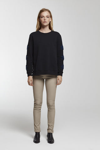 Joy Cropped Cotton-Blend Hooded Sweatshirt