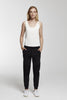 Cotton-blend jersey track pants