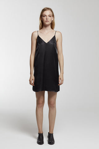 Silk midi cami dress