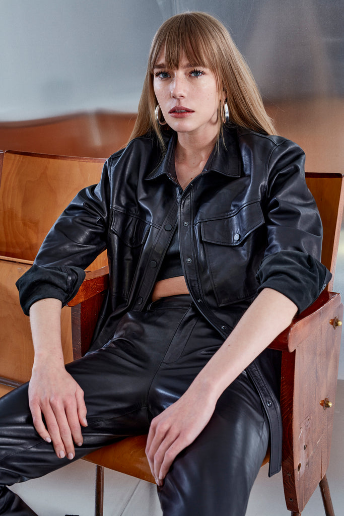 Xenia Leather Shirt