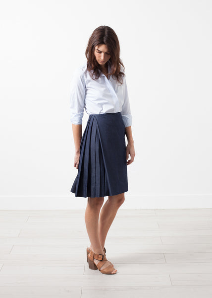 Side Pleat Skirt