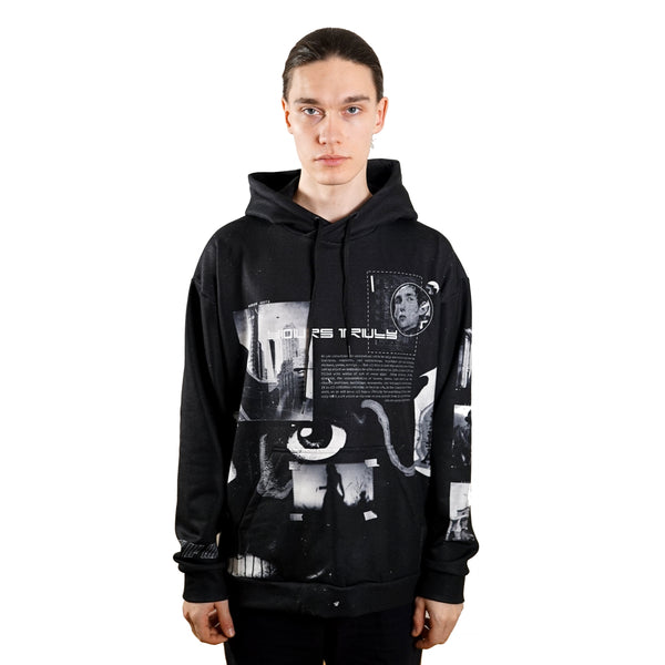 rule of three allusion hoodie front model