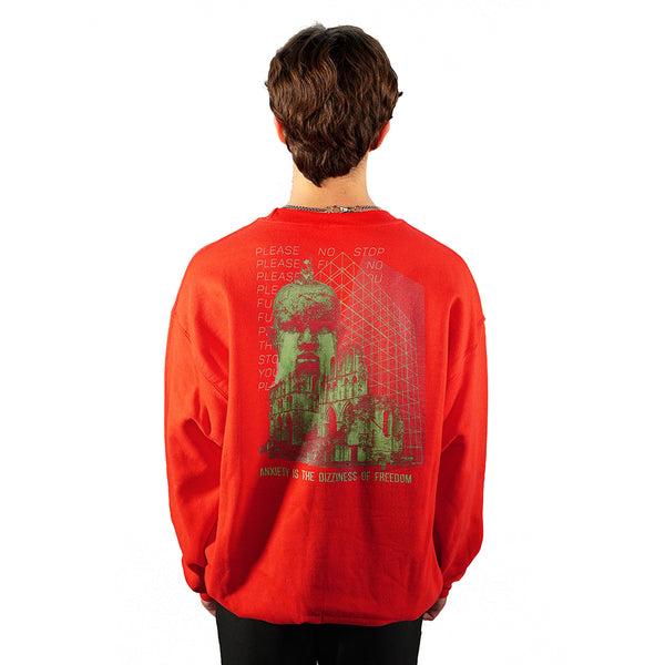 rule_of_three rage sweatshirt back model