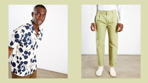 edwin moment of bliss shirt stan ray pleated chinos
