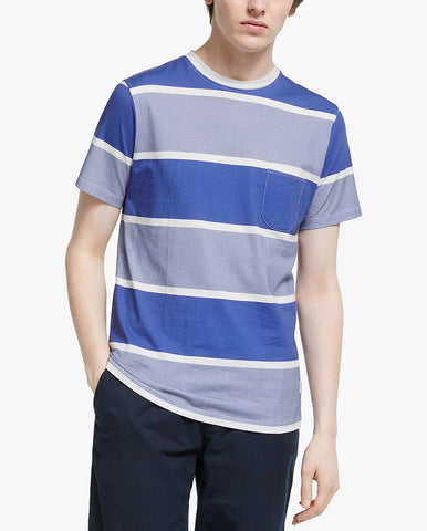 Dos Stripe T-Shirt Blue/Stone