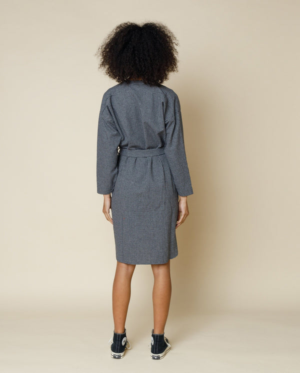 Stack Shirt Dress Check