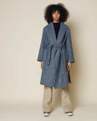 Robe Coat Blue Melange