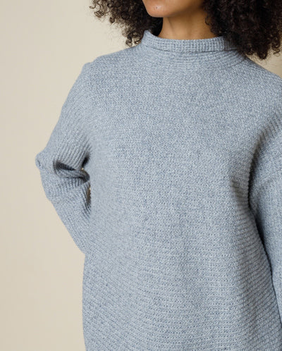 Funnel Knit Smokey Blue