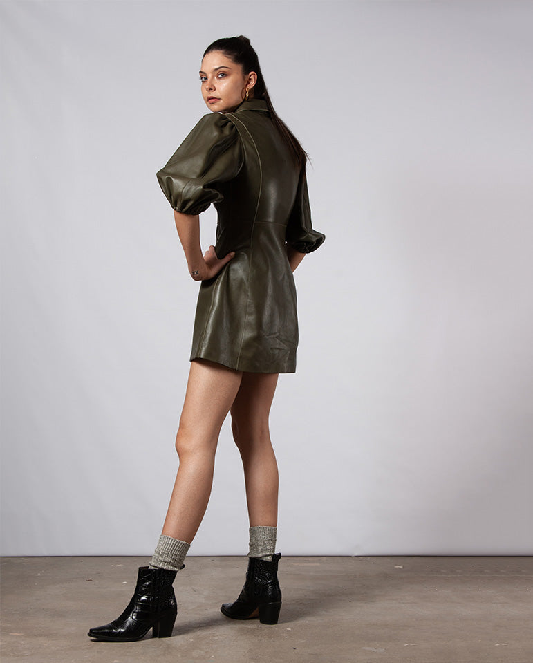 Meranti Leather Dress