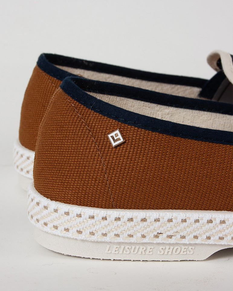 Tour Du Monde Slip On Brown/Navy