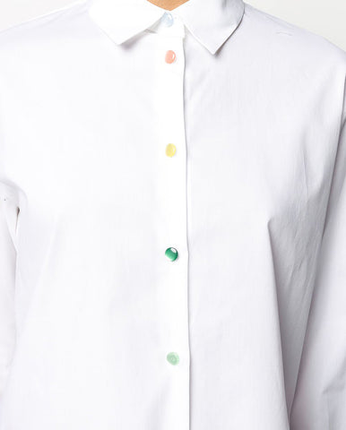 Rainbow button shirt