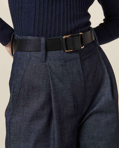 Giulio Leather Belt Black