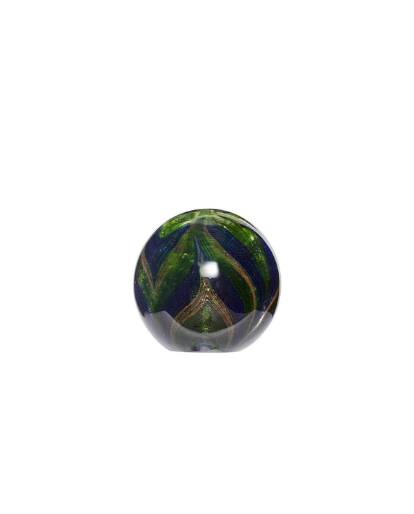 Glass Paperweight Blue/Green/Gold