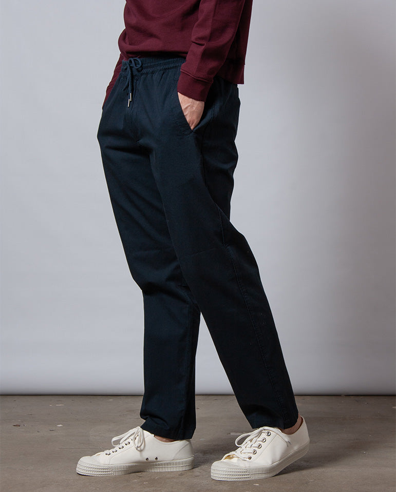 Drawcord Trouser Deep Navy