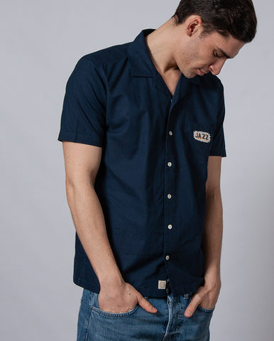 Embroidered Jazz Shirt BLUE